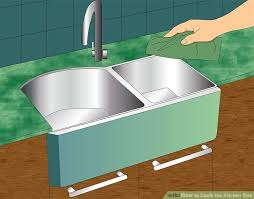 how to recaulk kitchen sink how to caulk the kitchen sink with pictures wikihow