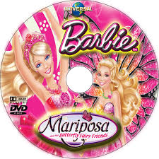 barbie mariposa and her butterfly fairy friends dvd label 2008