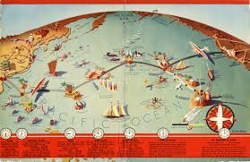 American Route Map by Route Map Pan American Airways Http Www Flysfo Com