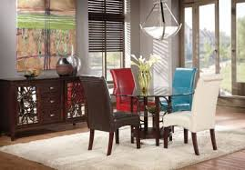 cindy crawford home highland park ebony 5 pc dining room with tan