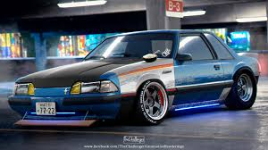 foxbody mustangs artstation ford mustang foxbody abimelec arellano