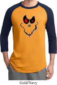 mens halloween shirt ghost face raglan tee t shirt ghost face
