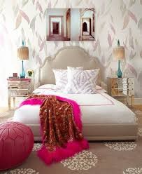 delicate bedroom with one of these 40 feminine headboards beautiful walpaper for bedroom with white bed plus pink blanket inside amazing carpet in bedrooms