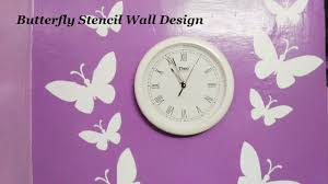 Wall Paint Designs Asian Paints Royale Play Butterfly Stencil Wall Design Part 1