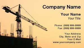 Construction Name Card Design Template At118273 Large Scale Construction