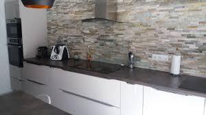 modele cuisine ixina cuisine ixina laquee beige dessus stratifie mur parement côté