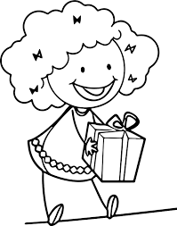 Give A Surprise Girl Happy Coloring Page Wecoloringpage Happy Coloring Pages