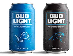 32 pack of bud light bud light s popular nfl team cans are back with a new minimalist