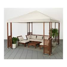 ikea pergolas jardin äpplarö gazebo brown white beige patios dining and summer
