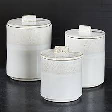 white canisters for kitchen white kitchen canisters crate and barrel