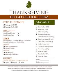 thanksgiving to go the pinery country club saturday november