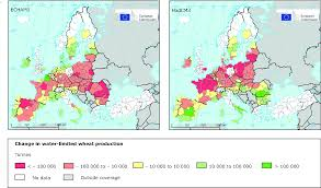 Europe Temperature Map Water Limited Crop Productivity U2014 European Environment Agency