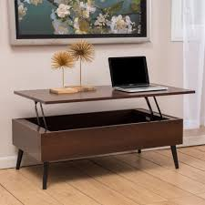 flip up coffee table furniture mid century modern mahogany wood pop up coffee table