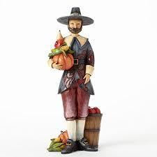 thanksgiving pilgrim figurines 10 inch jim shore for enesco heartwood creek pilgrim