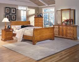 oak bedroom furniture sets floral patterned beige bedding sheet