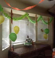 monkey themed baby shower ideas baby shower safari green yellow brown orange garland garlands