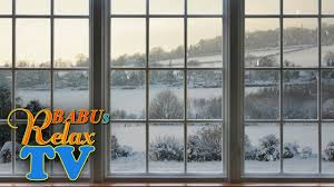 8 hours winter window snow scene beautiful relaxing snow and