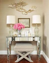 mirrored office desk crafts home