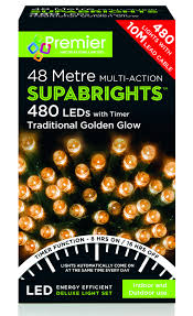 premier supabright multi action 48m led christmas lights
