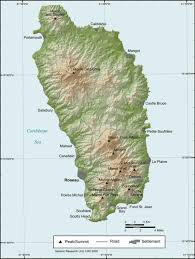 Map Of The Caribbean Dominica Volcanic Pearl Of The Caribbean An Overview Volcanocafé