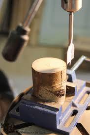 Tree Branch Candle Holder Diy Tree Limb Tea Light Holder The Wood Grain Cottage