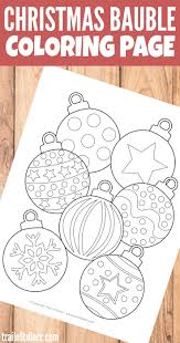 christmas bauble coloring page for kids christmas baubles