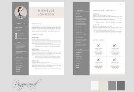 pages resume template 2 one page best example nardellidesign com