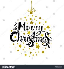 merry quote ornament tree stock vector 494335624