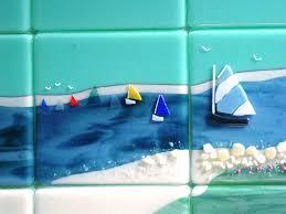 themed tiles themed fused glass tiles nantucket designer glass mosaics