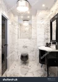 Modern Deco Modern Art Deco Bathroom Interior Design Stock Illustration