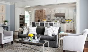 Living Rooms With Gray Sofas Charcoal Gray Sofa Transitional Living Room Sherwin Williams