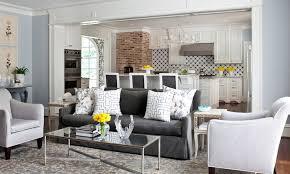 charcoal gray sofa transitional living room sherwin williams