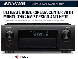 denon home theater receiver denon flagship receiver now available west coast hi fi