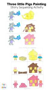 3 pigs printable coloring pages disney houses craft