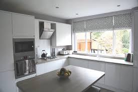 striking roman blinds in helen u0027s contemporary kitchen diner web