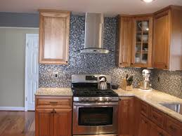 Glass Kitchen Backsplash Ideas Laminated Parquet Floor Brown Wooden Box Knife White Modern