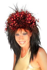 wigs for halloween fiber optic wigs halloween hair wig long