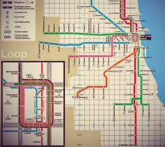 Chicago Blue Line Map Map Of Chicago Blue Line You Can See A Map Of Many Places On The
