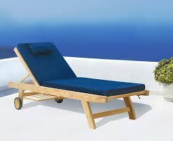 Garden Recliner Cushions Wooden Garden Sun Lounger With Free Cushion