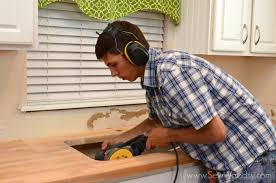 cutting countertop for sink cutting butcher block for an undermount sink sew woodsy
