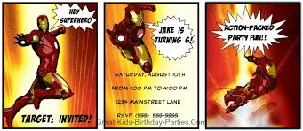 iron man invitations