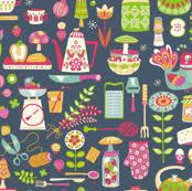 kitchen fabric wallpaper u0026 gift wrap spoonflower