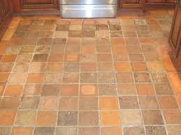 Tile Kitchen Floor by Kitchen Floor Interior Square Brown Cream Tile Kitchen Floor