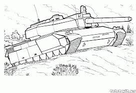 coloring page tank leclerc