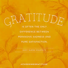 gratitude is often the only difference between pervasive sadness