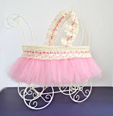 carriage centerpiece baby carriage baby shower centerpiece ivory wire baby pram