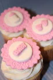 fondant cupcake toppers baby shower footprints baby bottle