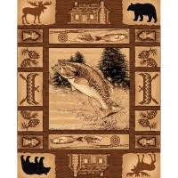 Fish Area Rug Wildlife Accent Rugs Rustic Area Rugs Fishing Decor