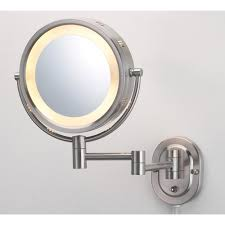 magnifying mirrors bathroom mirrors the home depot lighted wall