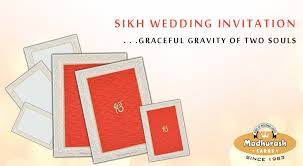 Sikh Wedding Card Sikh Wedding Invitation Cards U2013 My Invitation Cards